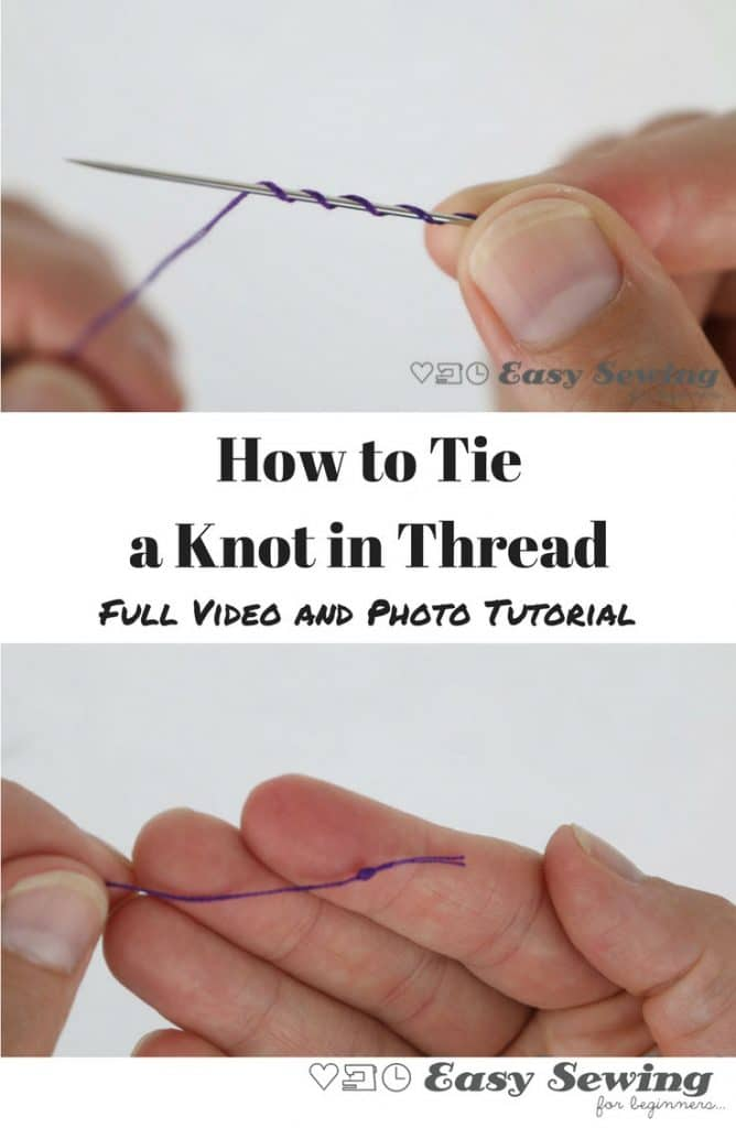 How to tie a knot in thread using a quilters knot video tutorial and photo tutorial