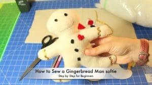 gingerbread man softie
