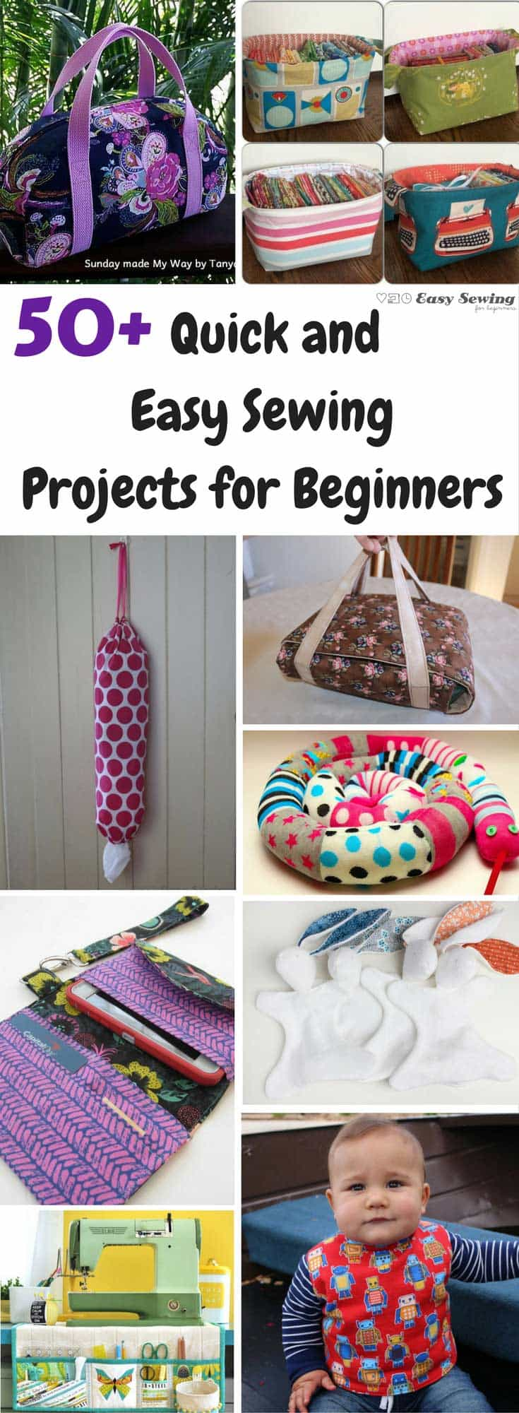 easy sew projects You don't have to know how to sew to make amazing things with fabric using any one of these simply and fun no-sew tutorials.