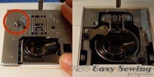 remove needle plate 2