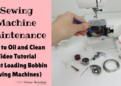 Sewing Machine Maintenance How to Oil and Clean Video Tutorial (Front Loading Bobbin)