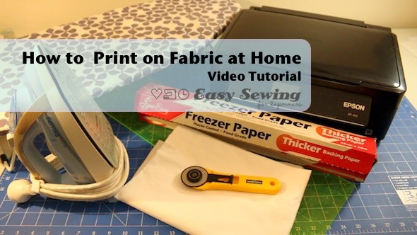 How to Print on Fabric with an Inkjet Printer and Freezer Paper – Washable as Well!