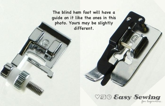 attach blind hem foot