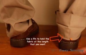 make pant length with a pin
