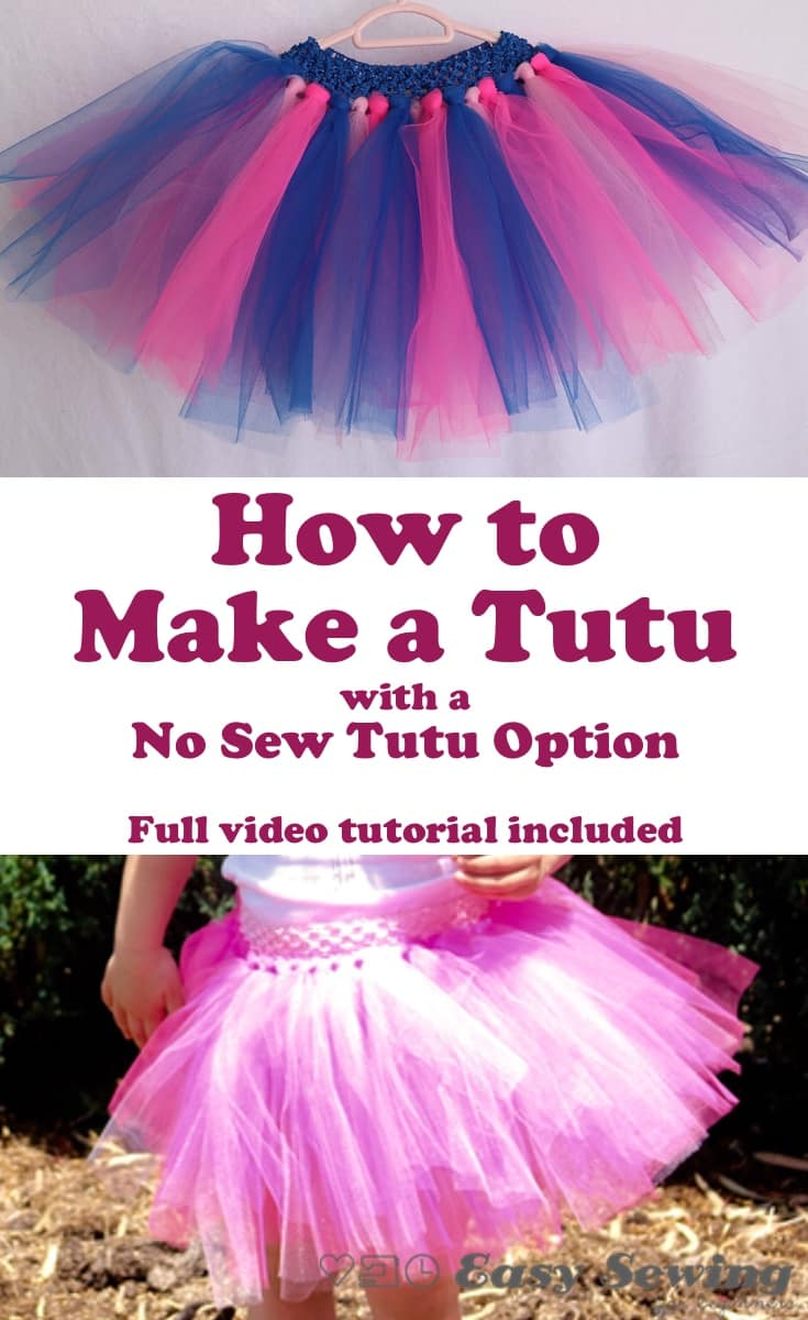 How to make a tutu pinterest image