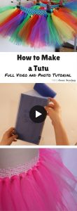 How to make a tutu video and photo tutorial no sew tutu option