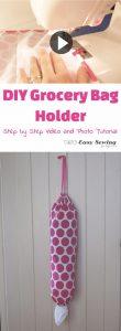 DIY Grocery bag holder tutorial