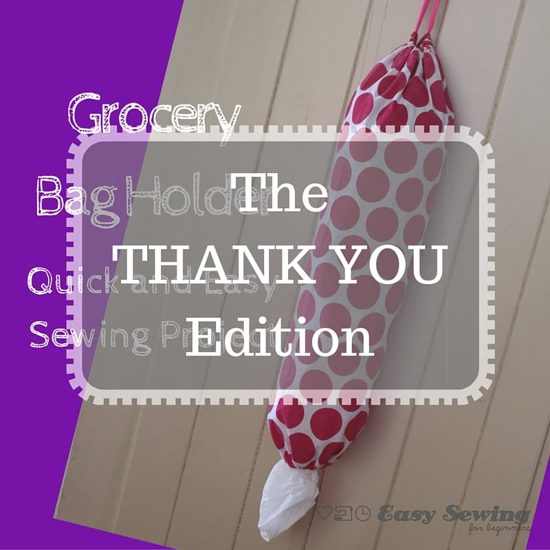 Grocery Bag Holder square THANK YOU Edition