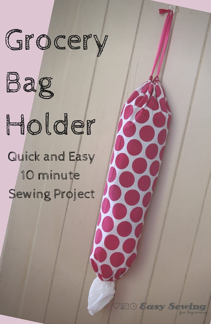 How to Make a Grocery Bag Holder Pinterest