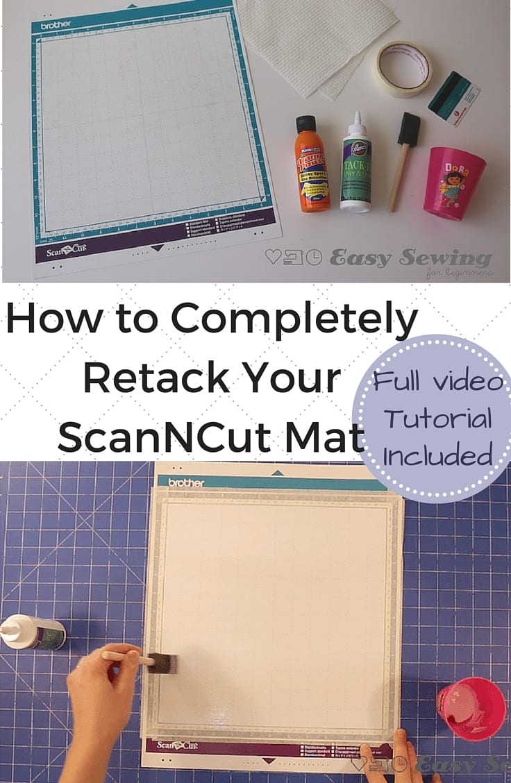 How to Retack Your ScanNCut Mat Pinterest