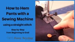 How to Hem Pants Using a Sewing Machine Featured