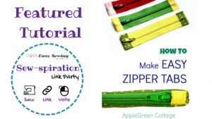 Sew-spiration featured tutorial Apple Green Cottage Zippered Tabs