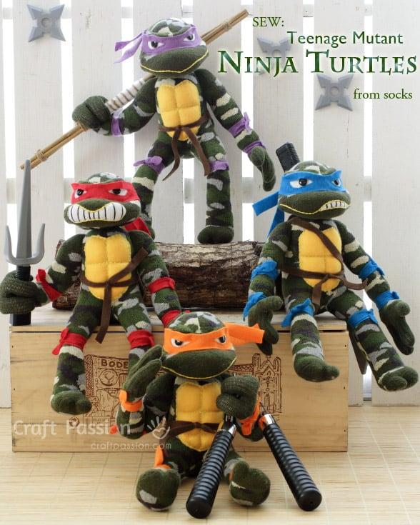 sock-ninja-turtle