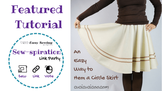 Sew-spiration featured tutorial an easy way to hem a circle skirt featured image