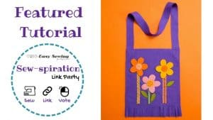 Sew-spiration featured tutorial spring tote