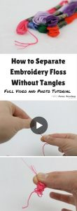 A great video showing how to separate embroidery floss! Great tips!