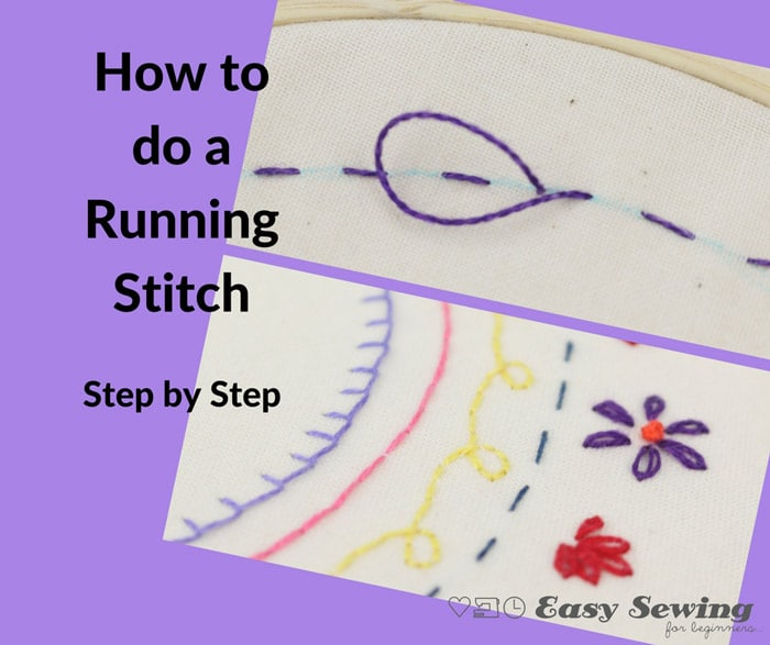 The Running Stitch for Hand Embroidery