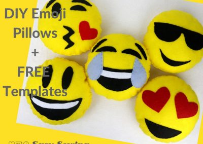 DIY Mini Emoji Pillow Tutorial + Free Templates