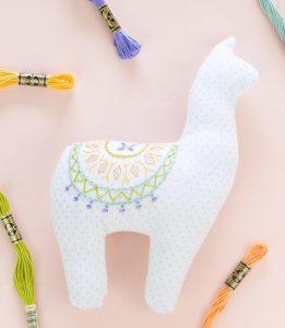 embroidered alpaca softie