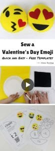 Sew a Valentines Day Emoji Video with free templates
