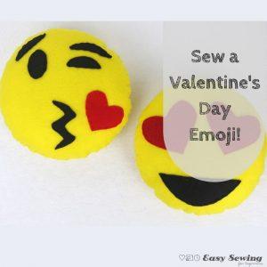Sew a Valentines Day Emoji square