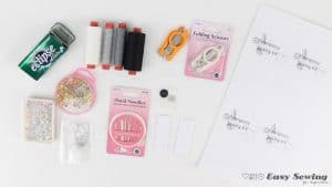 What you'll need to make an emergency sewing kit