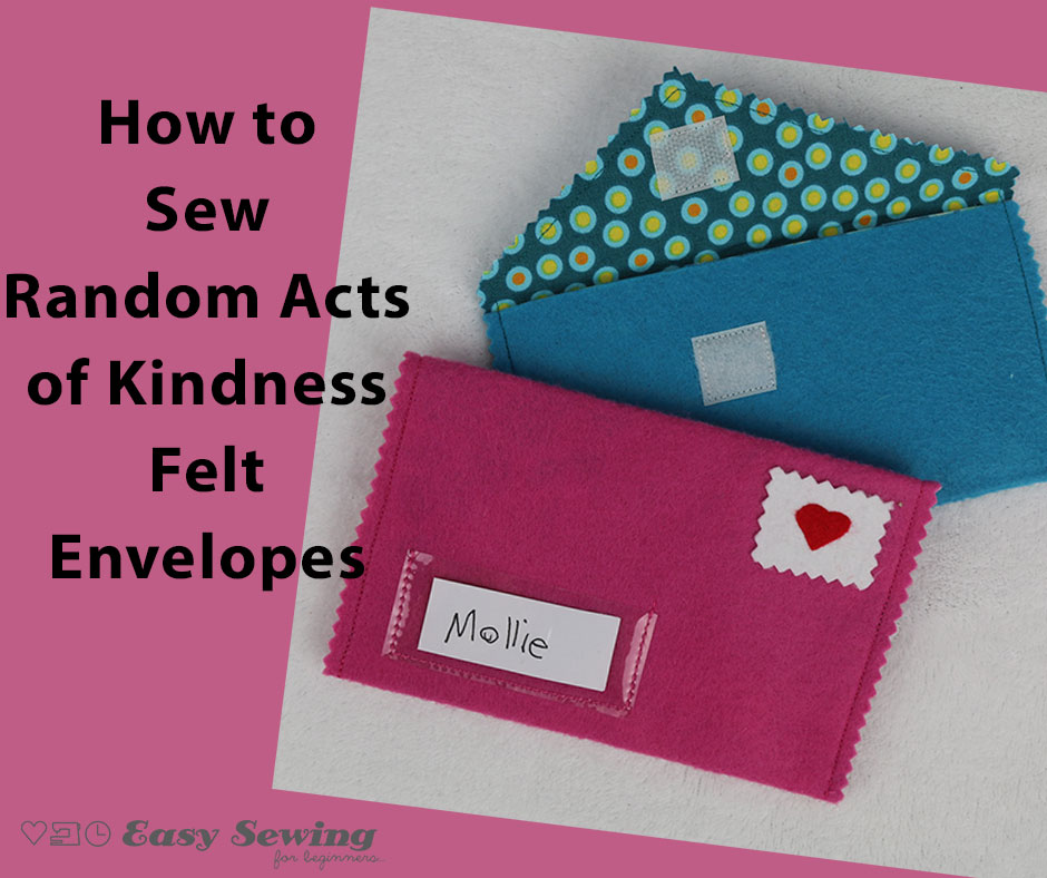 How to make a random act of kindness felt envelope website featured image