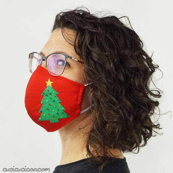 Cucicucicoo DIY Christmas sewing project face mask pattern 2