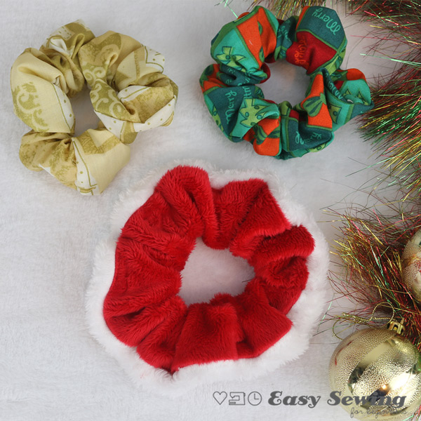 DIY Christmas Scrunchie Square Watermarked